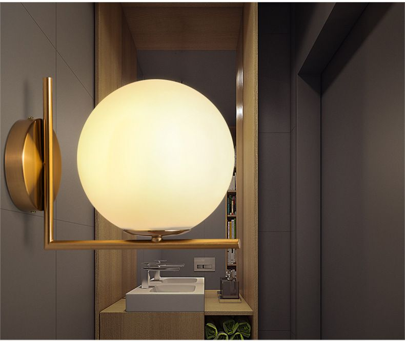 Modern Wall Lamp Wall Light Indoor LED Glass Ball Wall Lamps For Bedroom  Home Lighting Luminaire Light Fixture Wall Sconce (14)