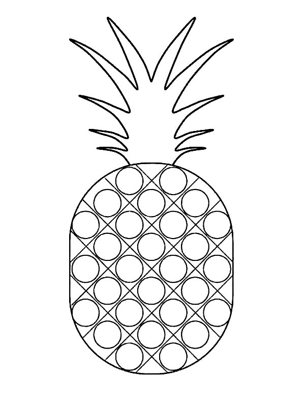 Dotted Pattern Pineapple Coloring Page Download Print Online Coloring Pages For Fr In 2020 Pumpkin Coloring Pages Superhero Coloring Pages Vegetable Coloring Pages