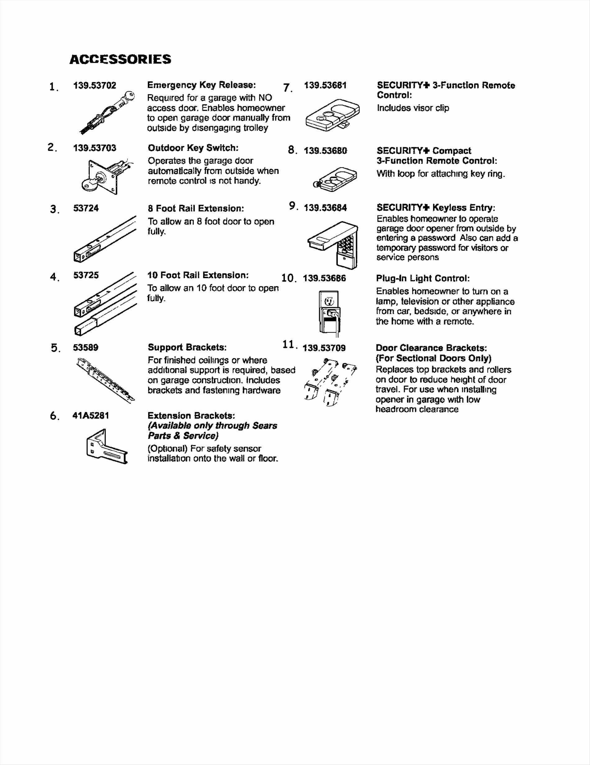 Finding Door Accessories Name List Garage Door Parts U
