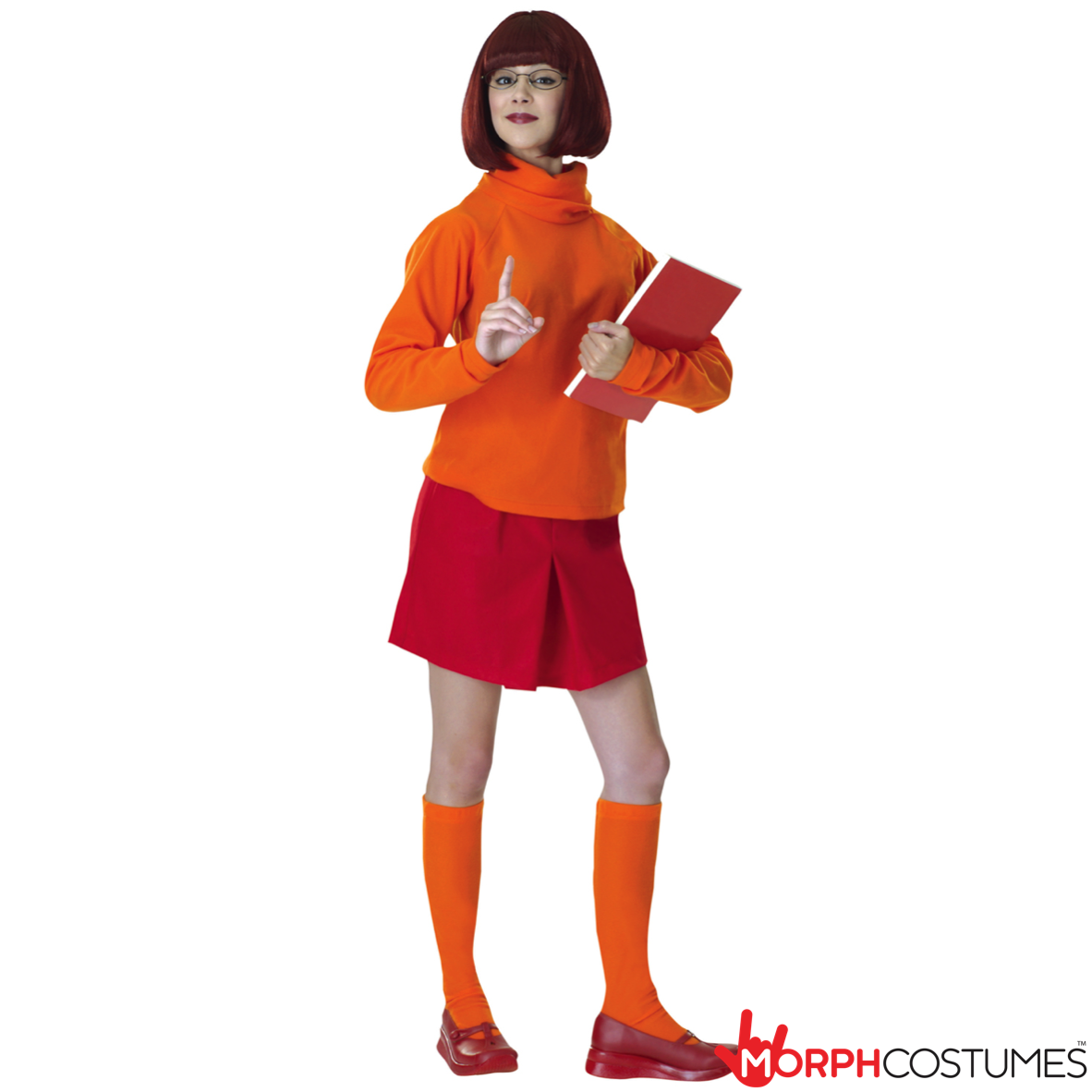 Couples Costume Inspiration: Velma is one of the original geeks and therefore perhaps the coolest of the Mystery Machine mob and now you can be her with the Scooby-Doo Velma Costume.