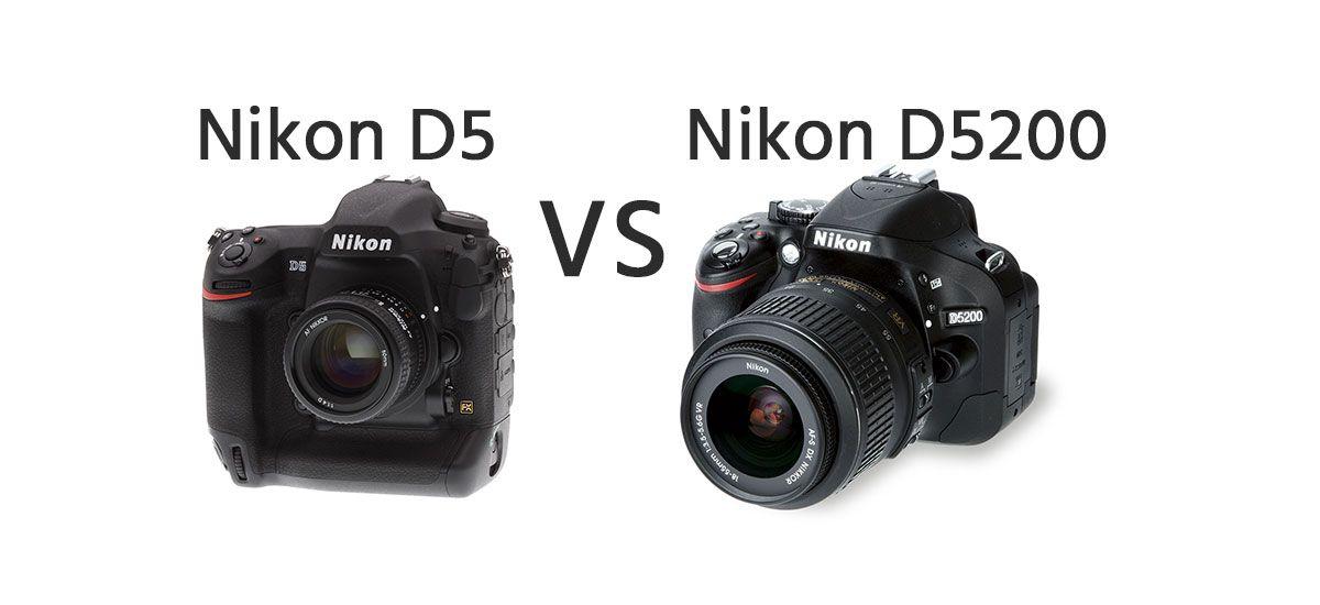 Nikon D5 vs Nikon D5200 Comparison https://dslrcamerasearch.com ...
