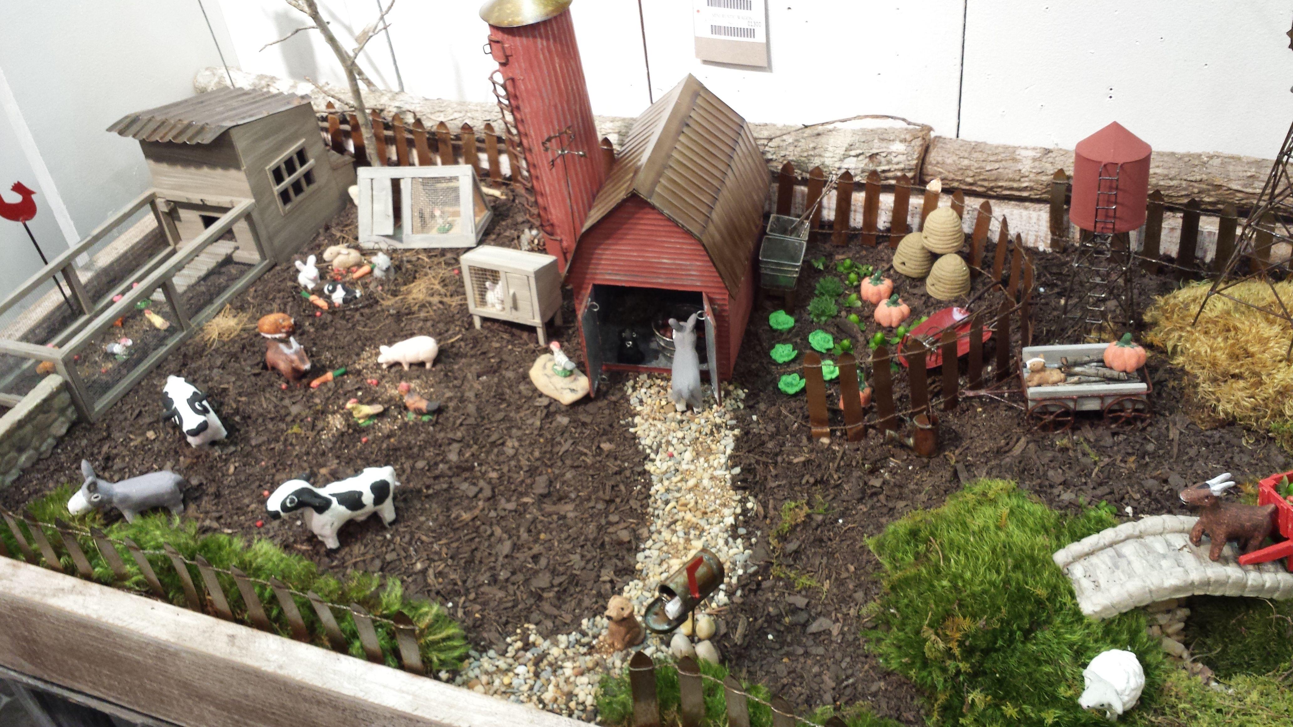 Mini Farm Items For Rural Fairies With Images Fairy Garden