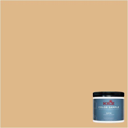 Kilz Interior/Exterior Paint 8 oz. Color Sample, #LD240-02 Roasted Peanut, Yellow