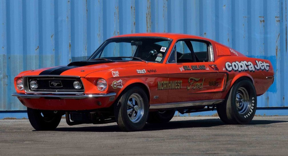 68 1 2 Factory 428 Cobra Jet Drag Car Ford Racing Drag Racing