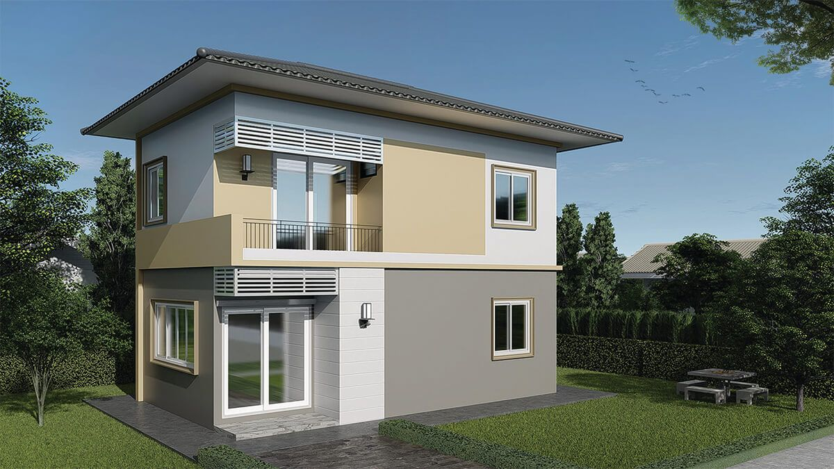 House Plans Idea 8x5m With 3 Bedroomsthe House Has Car Parking And Garden Living Room Dining Room Kitchen 3 Bedrooms 2 Bath In 2020 House Plans 3d House Plans House