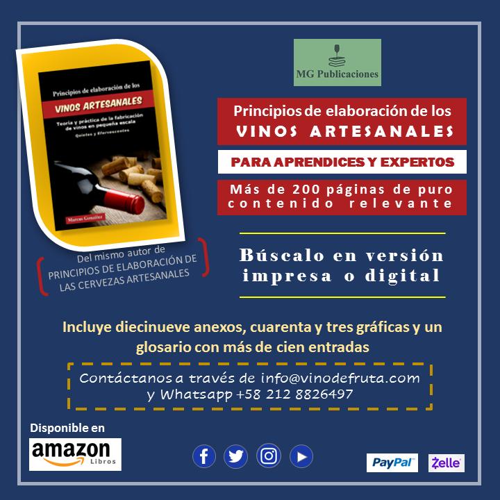 Libro Principios De Elaboración De Los Vinos Artesanales Por Marcos González