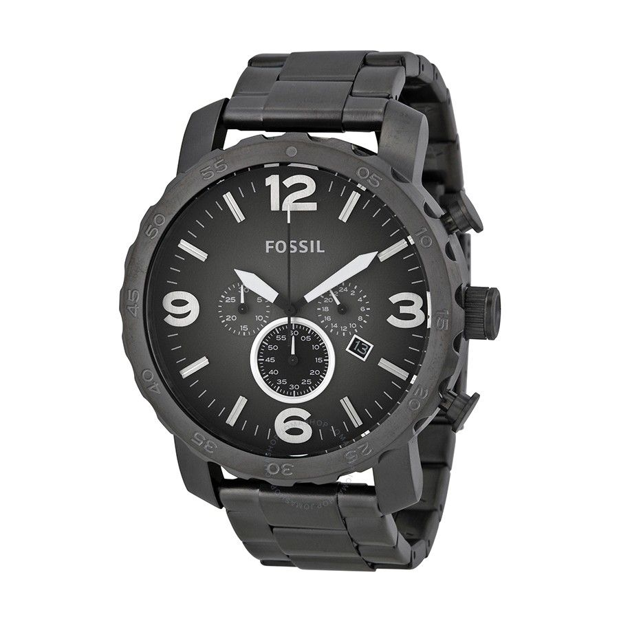 a995761aebe32 Shop for Nate Chronograph Smoke Grey Dial Ion-plated Men s Watch by Fossil  at JOMASHOP for only  89.99! WARRANTY or GUARANTEE available with every  item.