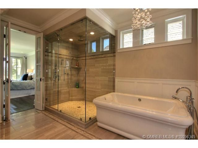 Bathroom Mirrors Kelowna perfect shower and double door into bathroom! great glass shower