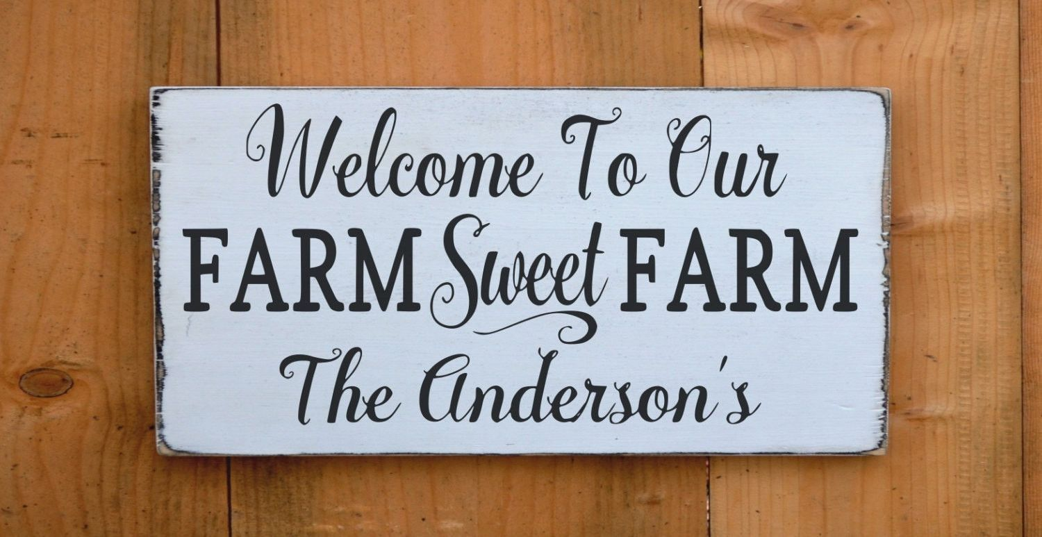 Personalized Farm House Family Name Welcome Signs Farm House Ranch ...
