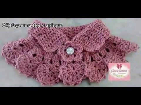 Capita De Bebe 1ª Parte Tutorial Paso A Paso Youtube Crochet Lace Collar Crochet Neck Warmer Crochet