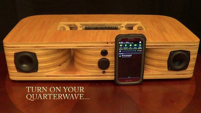 The Quarterwave Is A Handcrafted Bluetooth Speaker System -1252