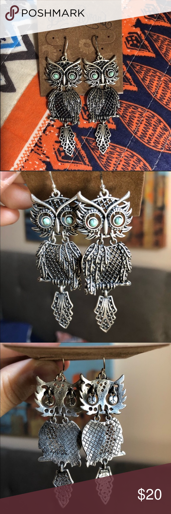 Lucky Brand Owl Earrings These