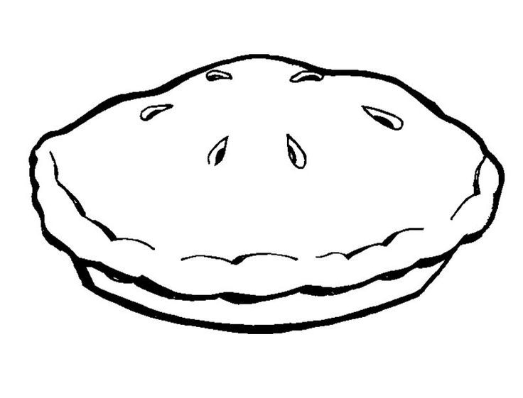Apple Pie Clipart Coloring Pages Coloring For Kids Color