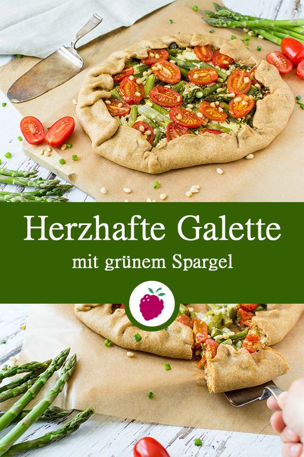 Gesundes Rezept für eine leckere Galette mit grünem Spargel, Tomaten und körnigem Frischkäse. #gesund #zuckerfrei #mealprep