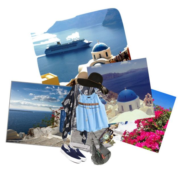 Vacation in Santorini Greece by raptornsain on Polyvore featuring polyvore, fashion, style, H&M, Vans, HUGO, Wet Seal and Billabong