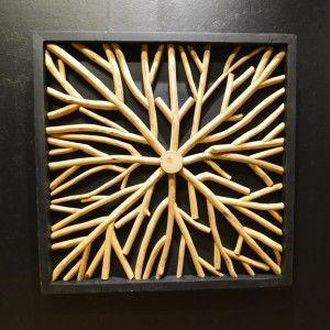 Wandpaneel houten takken W22