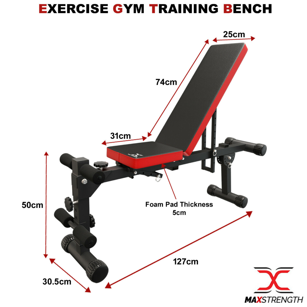 Training Weight Bench Adjustable Flat Incline/&Decline Workout Fitness Exercise