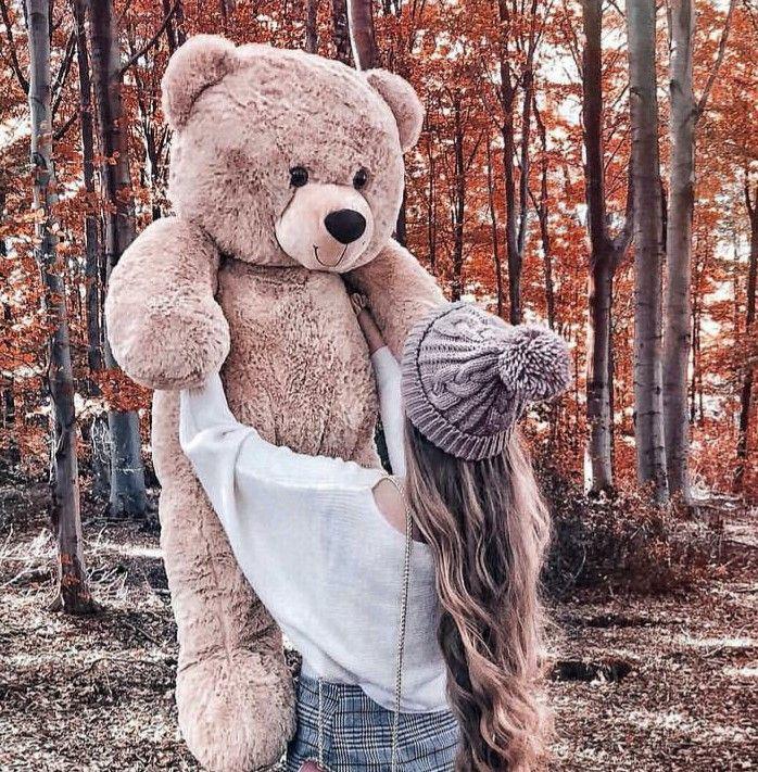 Pin By Aneera Abbas On Oʂeʂ Teddy Bear Wallpaper Teddy Girl Cute Images For Dp
