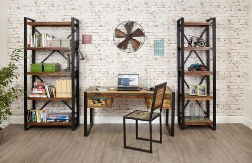 DAPA  Industrial Mango Wood Urban Chic Bookcase