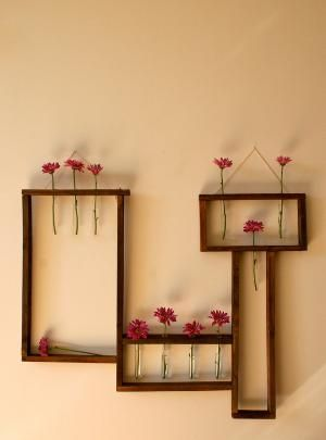 Handmade Wooden WallHanging\ Vase\ Shelf by md71090 on Etsy
