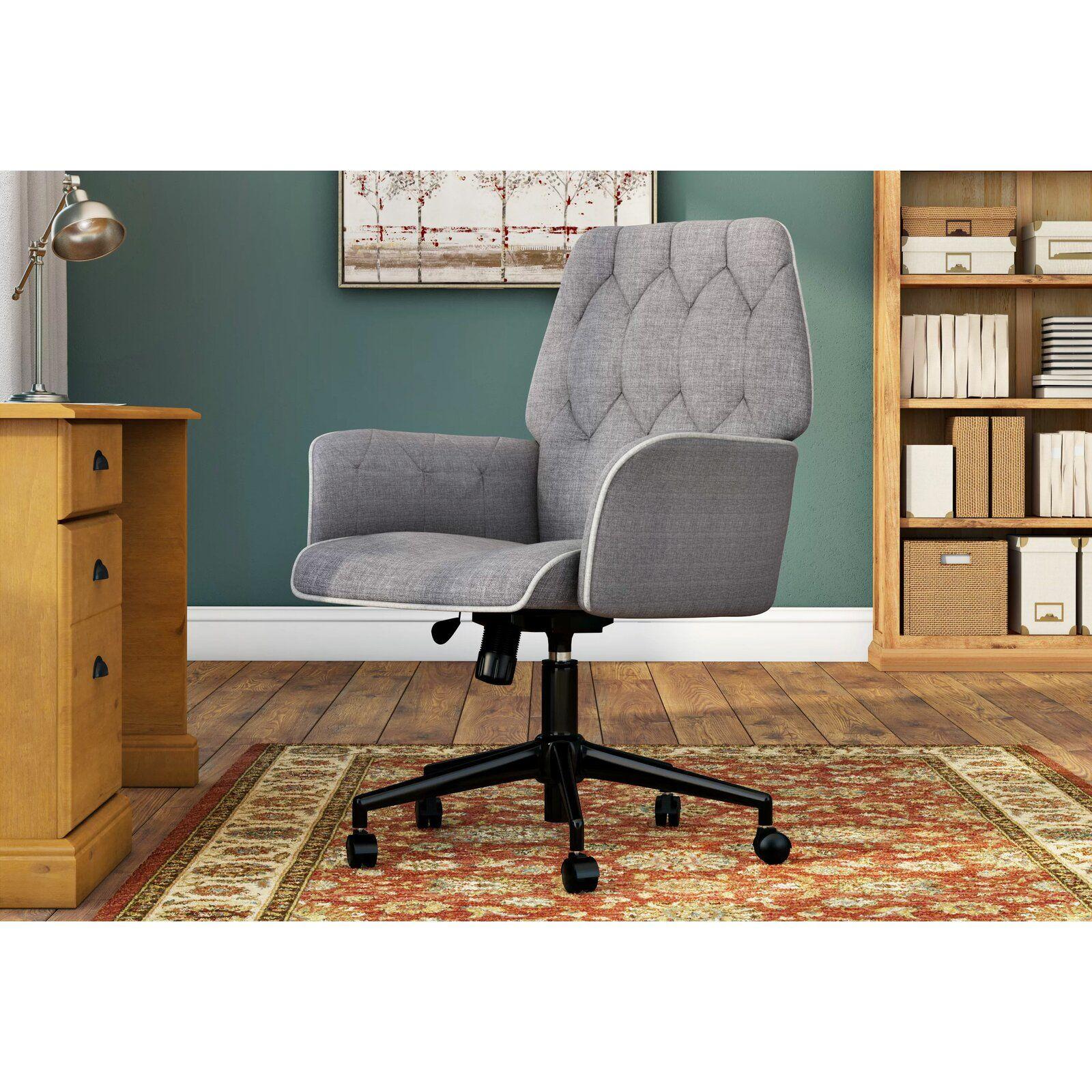 Meka Linen Swivel Executive Chair Vintage office chair