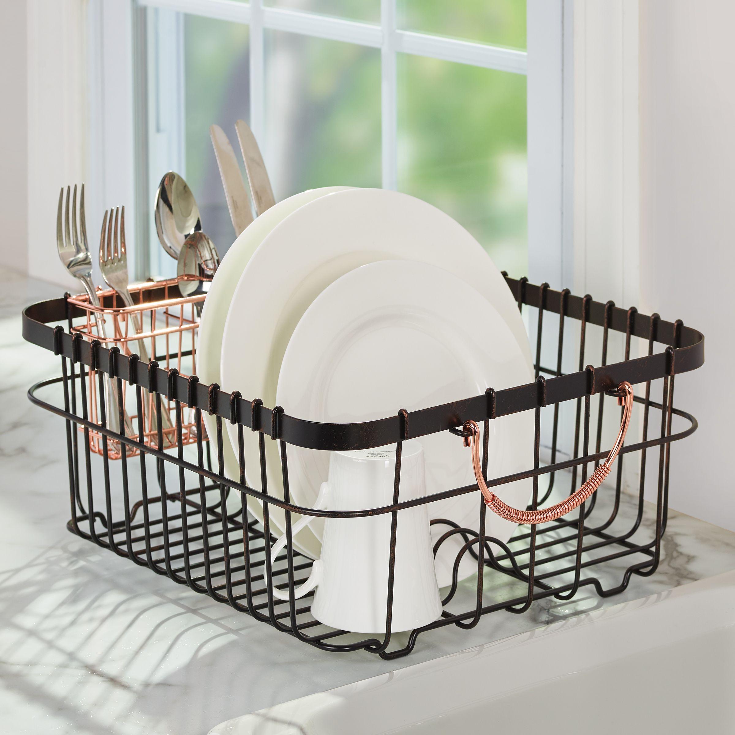 dish racks copper handles dish rack