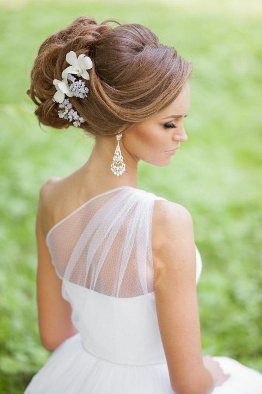 beautiful side swept updo wedding hairstyles ideas side swept