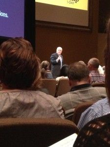 Dave Ramsey taking the stage at the Houston, Texas #EntreLeadership Workshop Day.     From our blog post on key learning points: http://www.forthea.com/blog/2012/10/30/entreleadership-our-day-with-dave-ramsey-and-company/