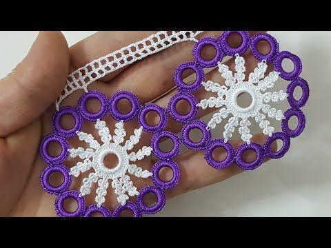 Çeyizlik Halkalı Kolay Havlu Kenarı Yapımı #crochetmotif