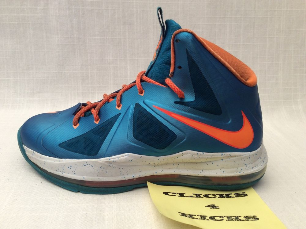 finest selection acafc d82f2 Nike Air ZOOM LEBRON 10 X BALTIC BLUE ORANGE Youth Basketball Shoes Size  6.5 Y  Nike  BasketballShoes