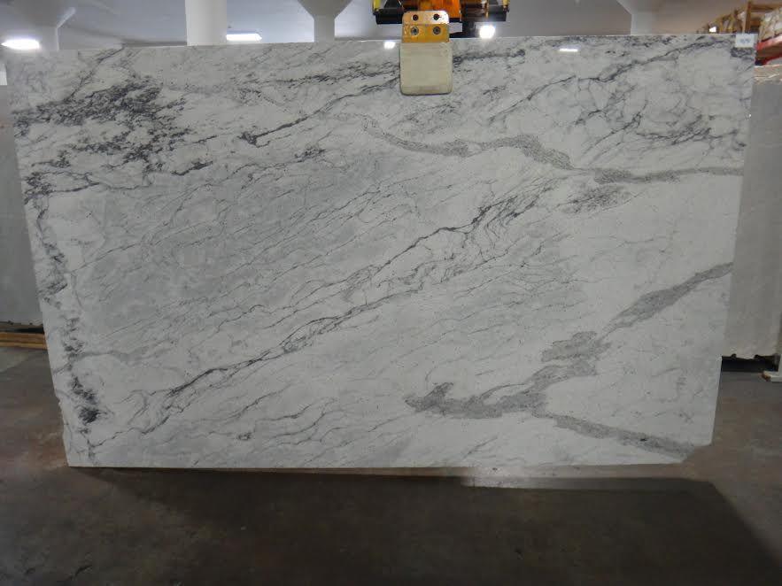 Glacier White Granite Perimeter Westbury Remodel