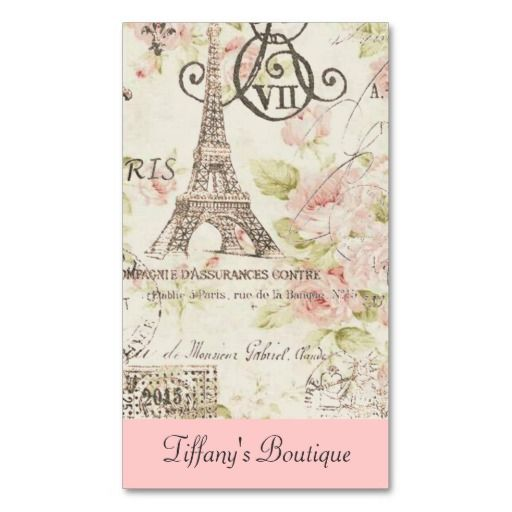 Chic vintage floral paris eiffel tower fashion business cards zazzl chic vintage floral paris eiffel tower fashion business cards zazzle business cards httpzazzlebusinesscardsdepot reheart Gallery