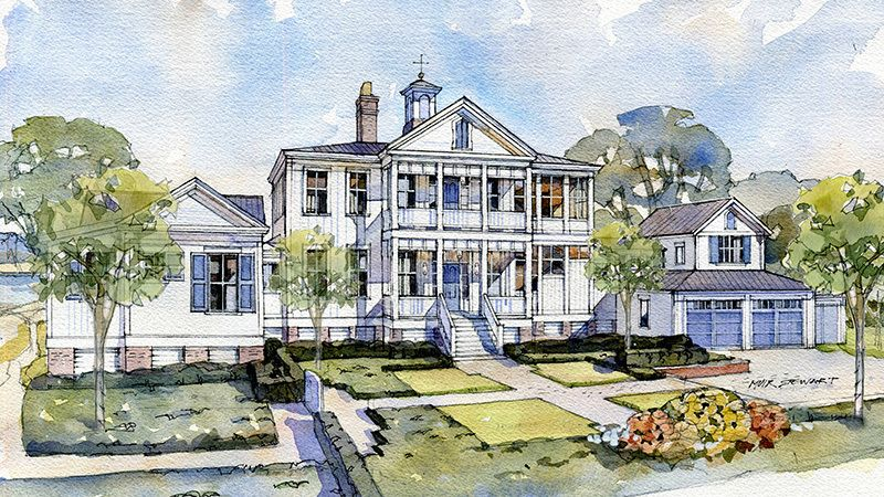 Crane Island River House Southern Living House Plans In 2020 River House House Plans Southern Living House Plans