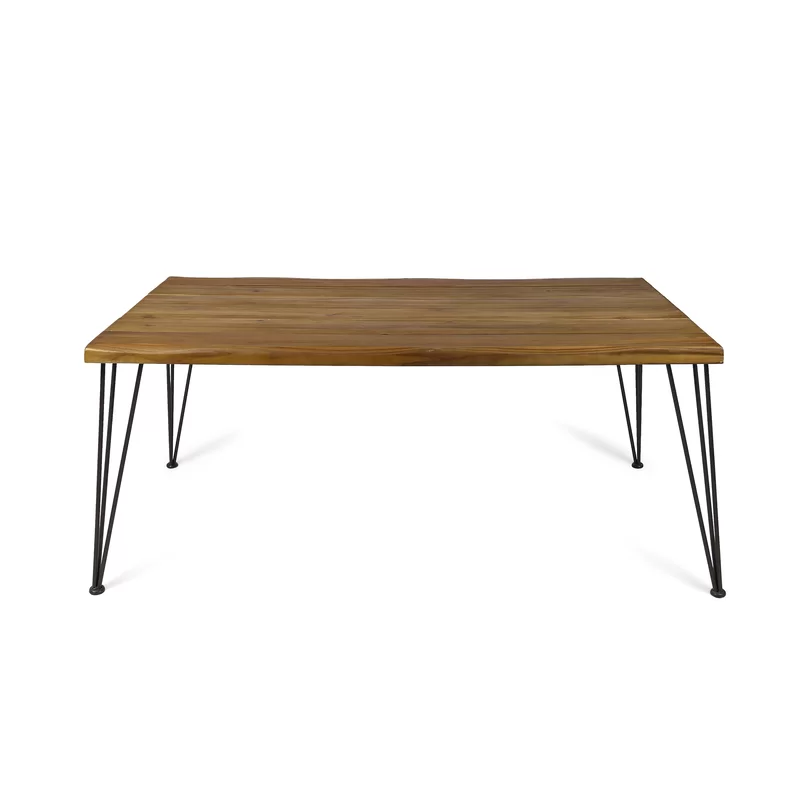 Vikesha Solid Wood Dining Table In 2020 Solid Wood Dining Table