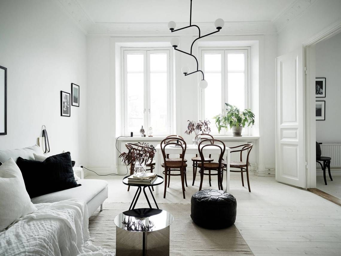 Stylish Black And White Home   Via Coco Lapine Design. Swedish ... Design Inspirations