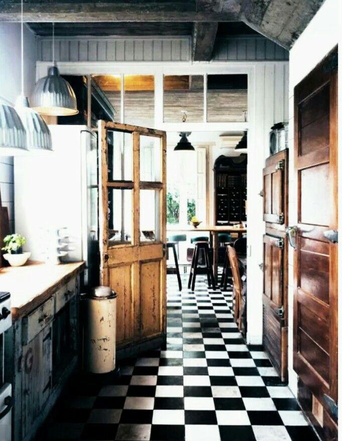 Cuisine, salle a manger rustique LivingRoom Kitchen Décoration