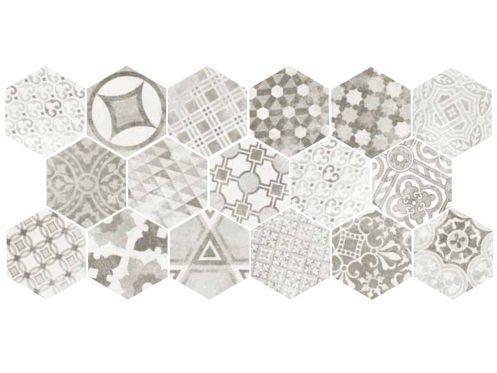 Art Deco 1 Hexagonal Cement Garden Grey 17 5x20 Carrelage De Sol