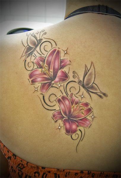 tattoo bilder tattoo vorlagen lilien tattoo motive. Black Bedroom Furniture Sets. Home Design Ideas