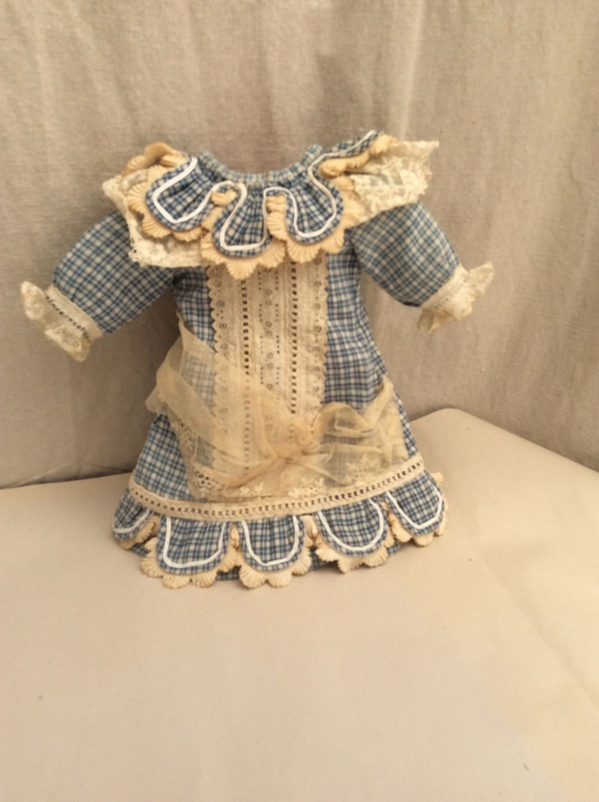 Petite Size Blue White Dress for French Bebes | eBay