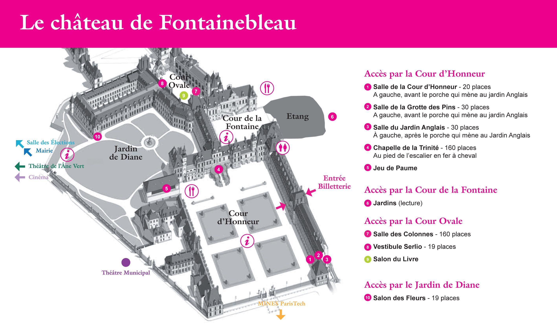 Fontainebleau Jardin France Plan Chateau