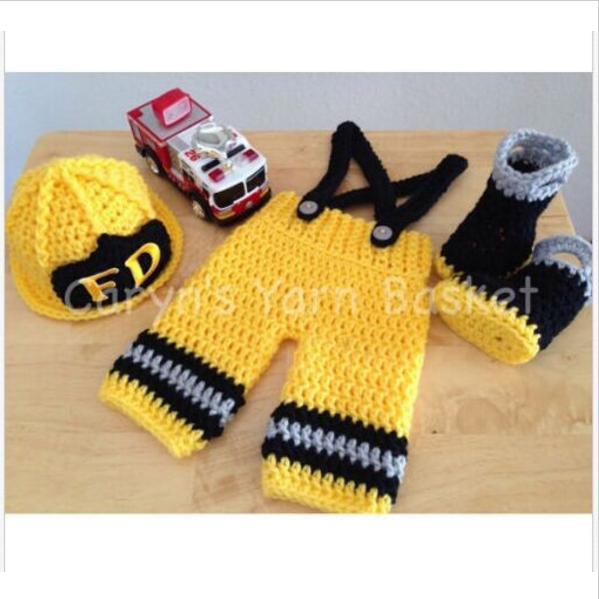 2eb81f80c27 Baby Firefighter Fireman Hat Outfit