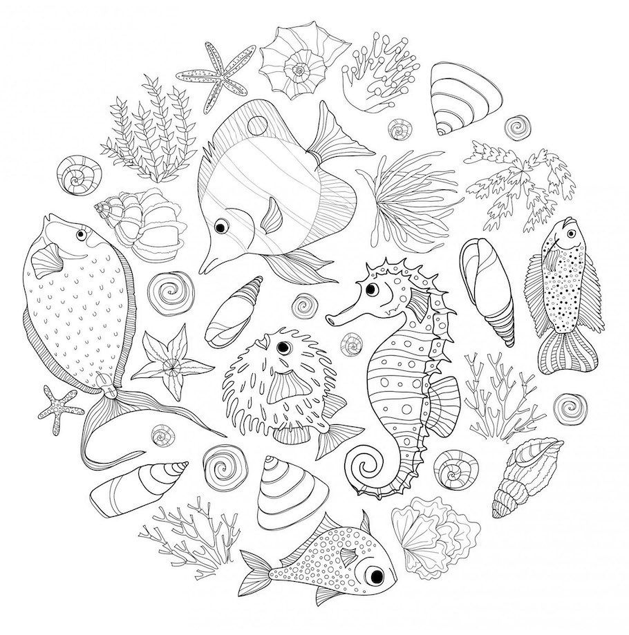 Are You Into Animal Doodling Then Check Out Our Collection Of Cute Animal Doodles Funny Unique Ani Ocean Coloring Pages Animal Doodles Animal Coloring Pages