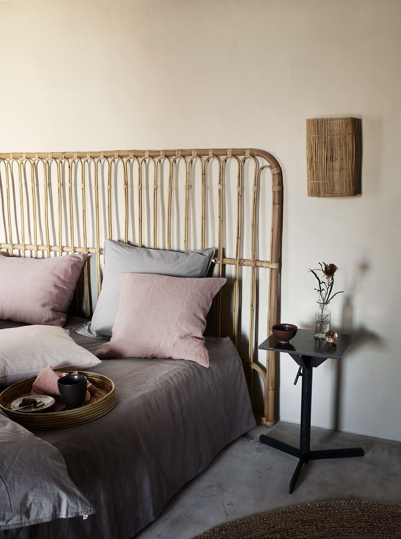 Bed board in rattan, 180xH130, nature | Schlafzimmer | Pinterest ...