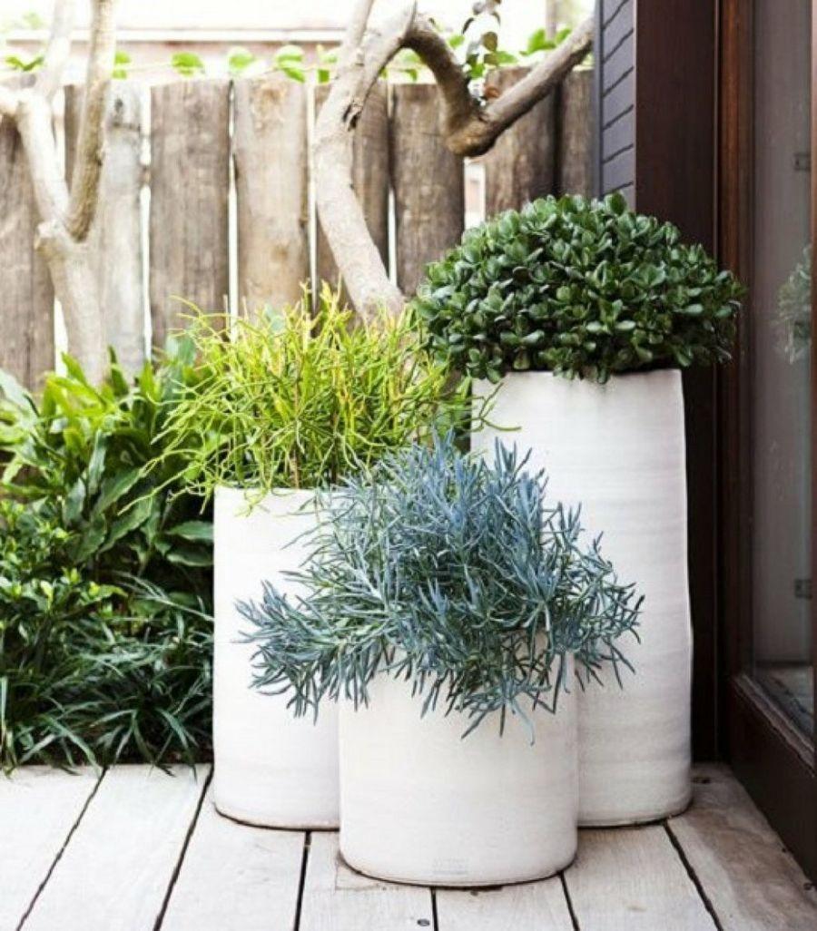 Recopilaci n de maceteros para ambientes modernos y for Decoracion jardin macetas
