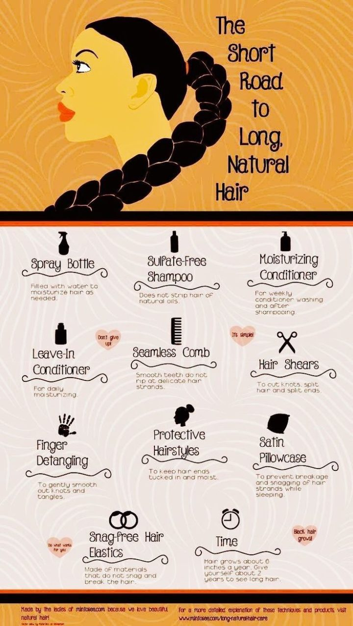 How to get long, natural African American hair. These hair care tips will show y #africanamericanhair