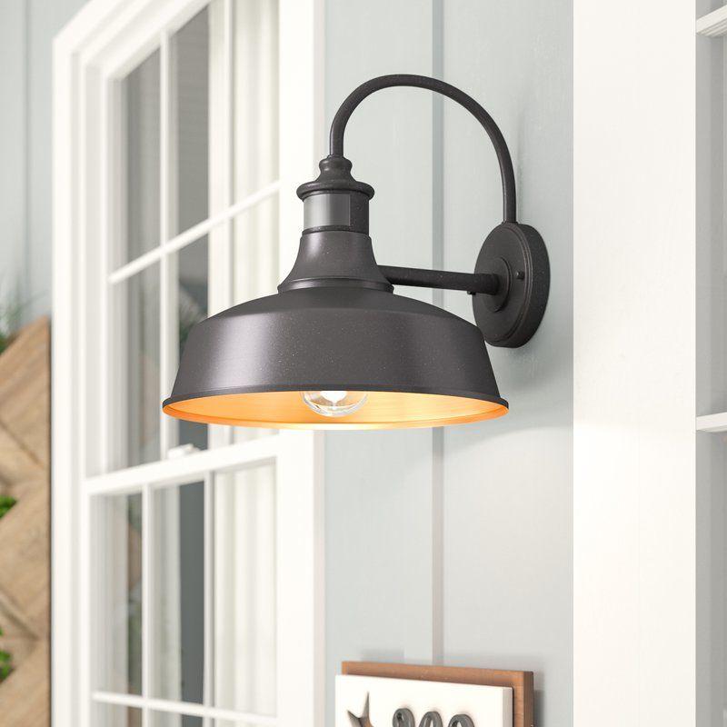 Ziebarth Outdoor Barn Light With Motion Sensor Barn Lighting Garage Lighting Outdoor Barn Lighting