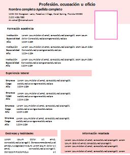 Modelo De Curriculum Vitae Para Descargar Modelo De Curriculum Vitae In 2020 Lebenslauf Leben Vorlagen