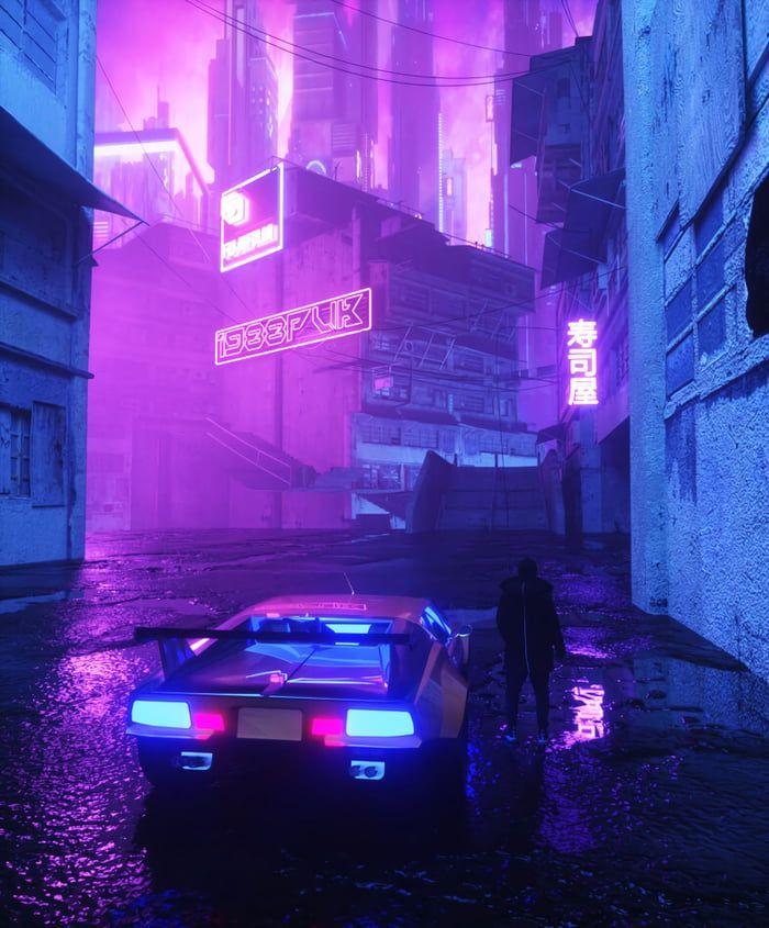 Neon Noir, Cyberpunk Art, City Aesthetic