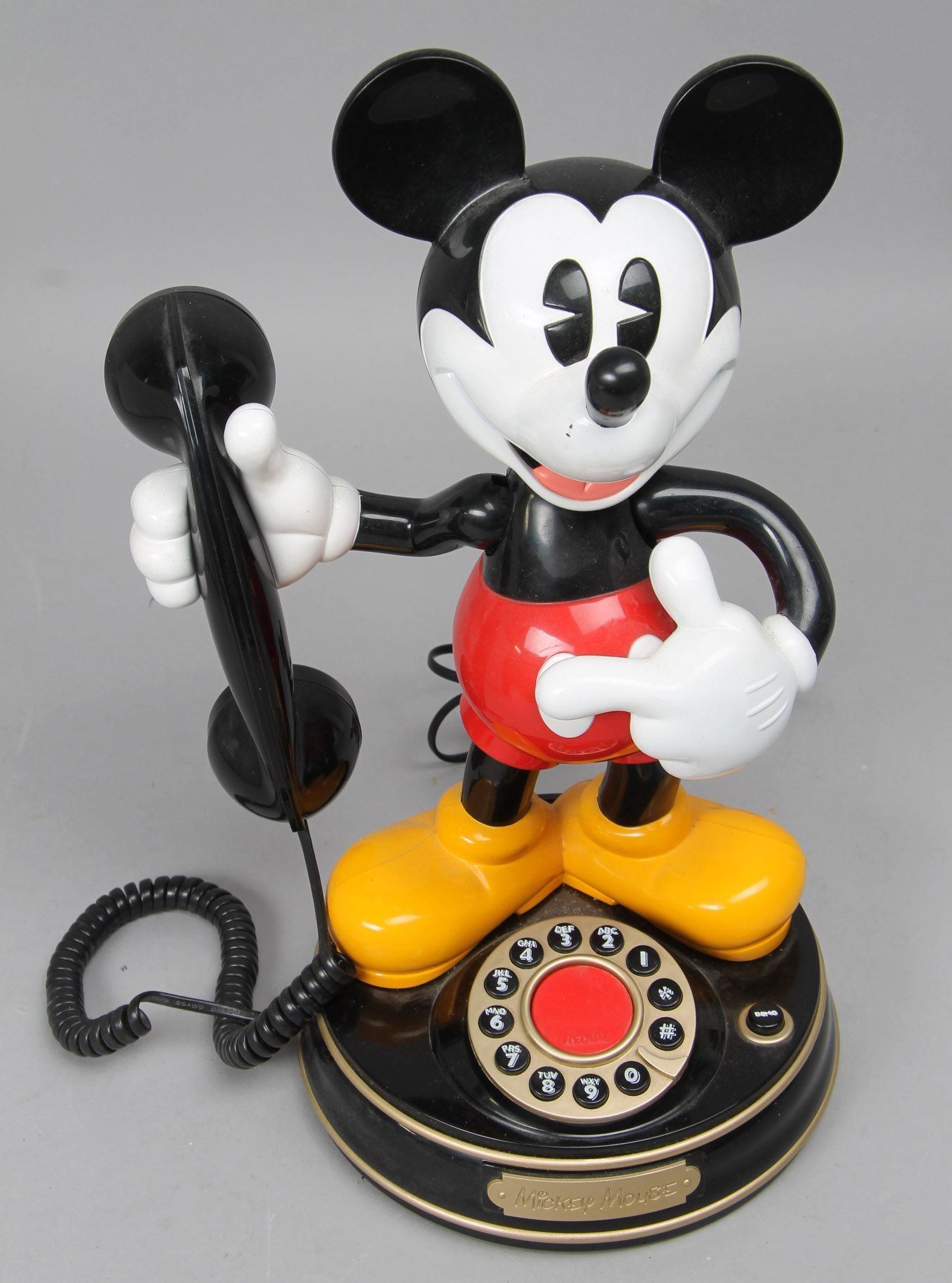 Mickey Mouse, Desk phone plastic. Produced for Superfone