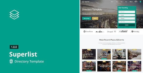 Superlist v161 directory html5 template blogger template web explore templates free website template and more accmission Choice Image